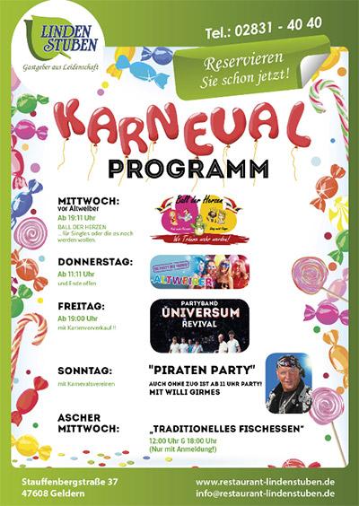Karneval 2018 in den Lindenstuben