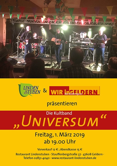 "Revival Party mit Kultband ""Universum"""